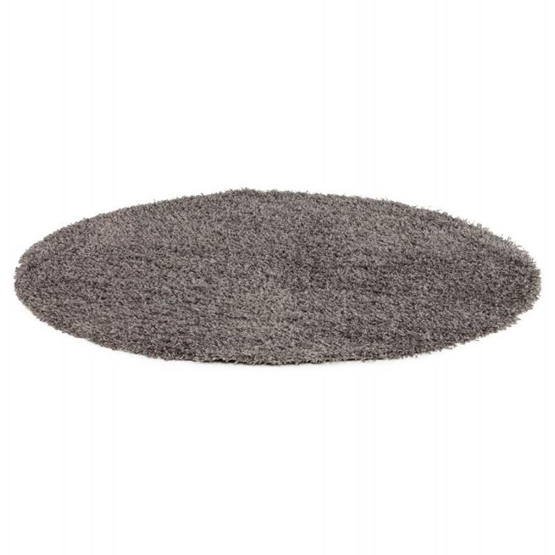 tapis contemporain et design mike rond grand mod le 200 cm gris. Black Bedroom Furniture Sets. Home Design Ideas