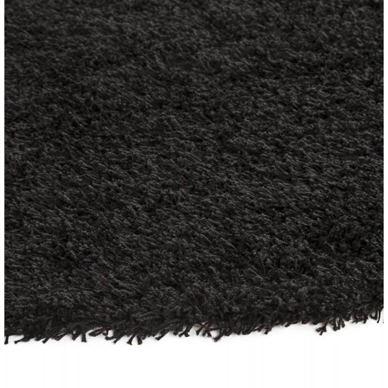 Zeitgenössische Teppiche und Design MIKE Runde kleines Modell (Ø 160 cm) (schwarz) - image 20404