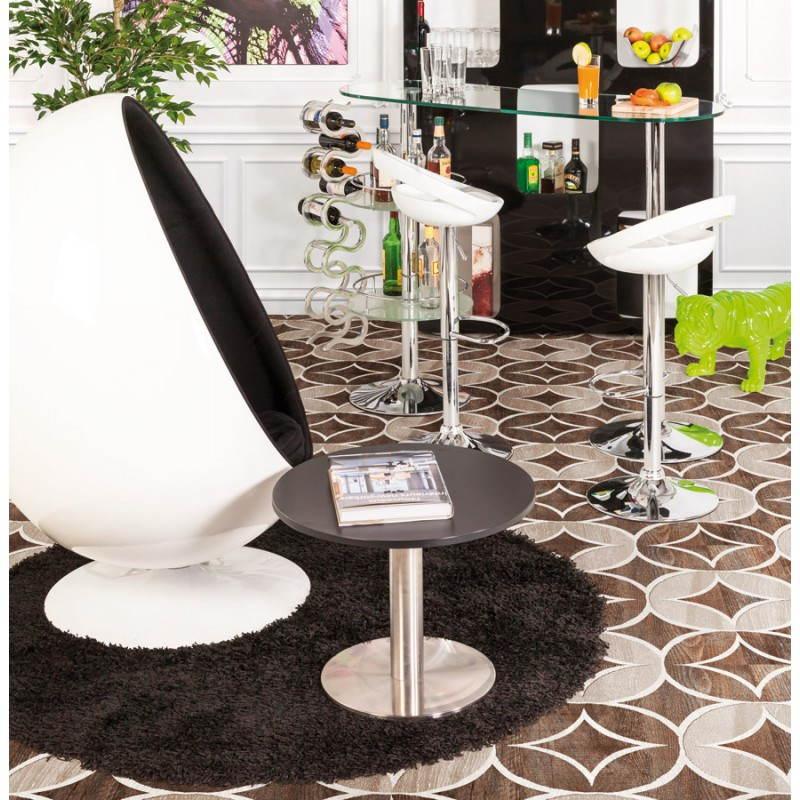 Zeitgenössische Teppiche und Design MIKE Runde kleines Modell (Ø 160 cm) (schwarz) - image 20408