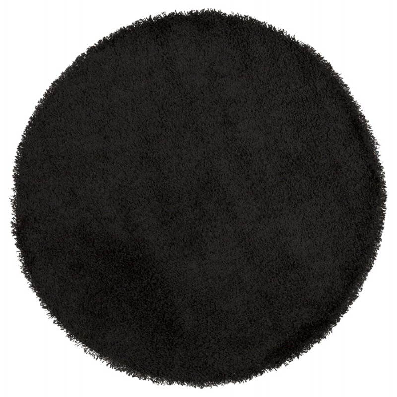 Tapis contemporain et design MIKE rond grand modèle (Ø 200 cm) (noir)