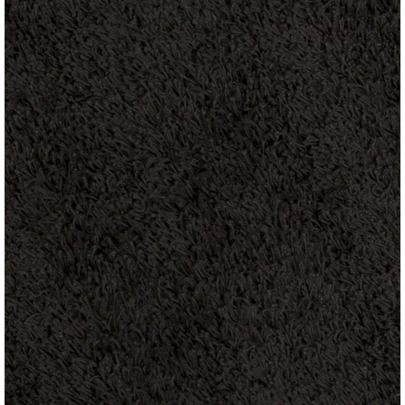 tapis contemporain et design mike rond grand mod le 200 cm noir. Black Bedroom Furniture Sets. Home Design Ideas