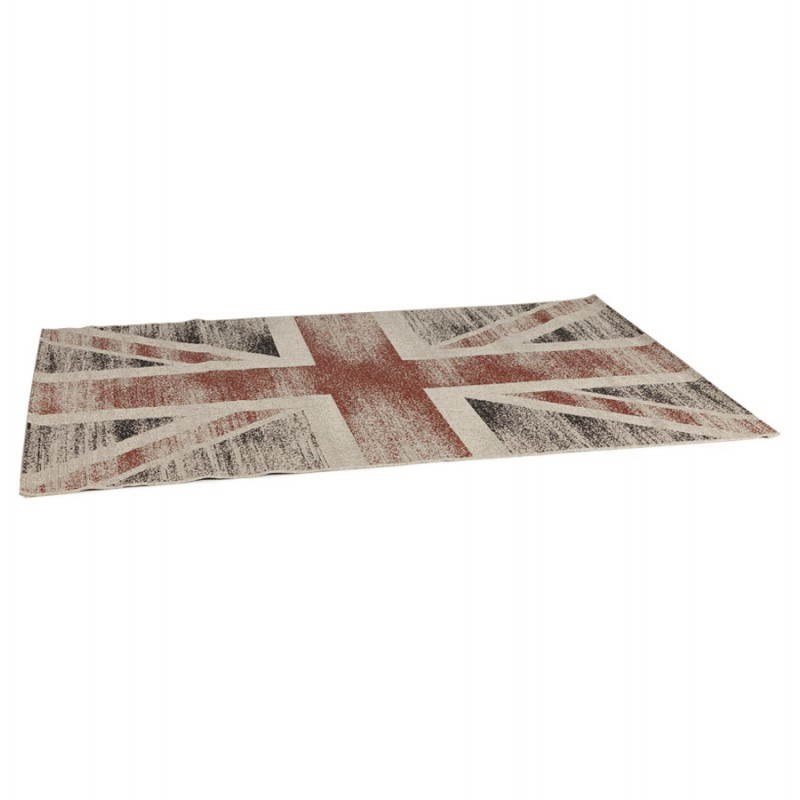 Contemporary rugs and design flag UK rectangular small model (170 X 120) (black, red, white) - image 20420