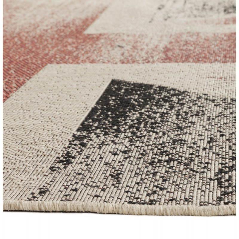 Zeitgenössische Teppiche und Design kennzeichnen UK rechteckiges kleines Modell (170 X 120) (schwarz, rot, weiß) - image 20424