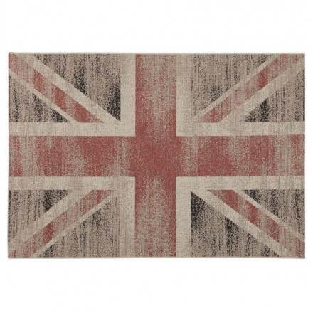 Zeitgenössische Teppiche und Design kennzeichnen UK rechteckiges großes Modell (230 X 160) (schwarz, rot, weiß)