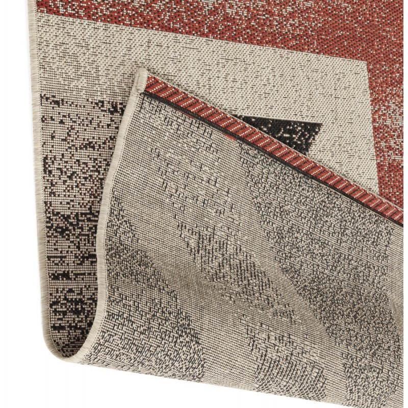 tapis contemporain et design drapeau uk rectangulaire grand mod le 230 x 160 noir rouge blanc. Black Bedroom Furniture Sets. Home Design Ideas