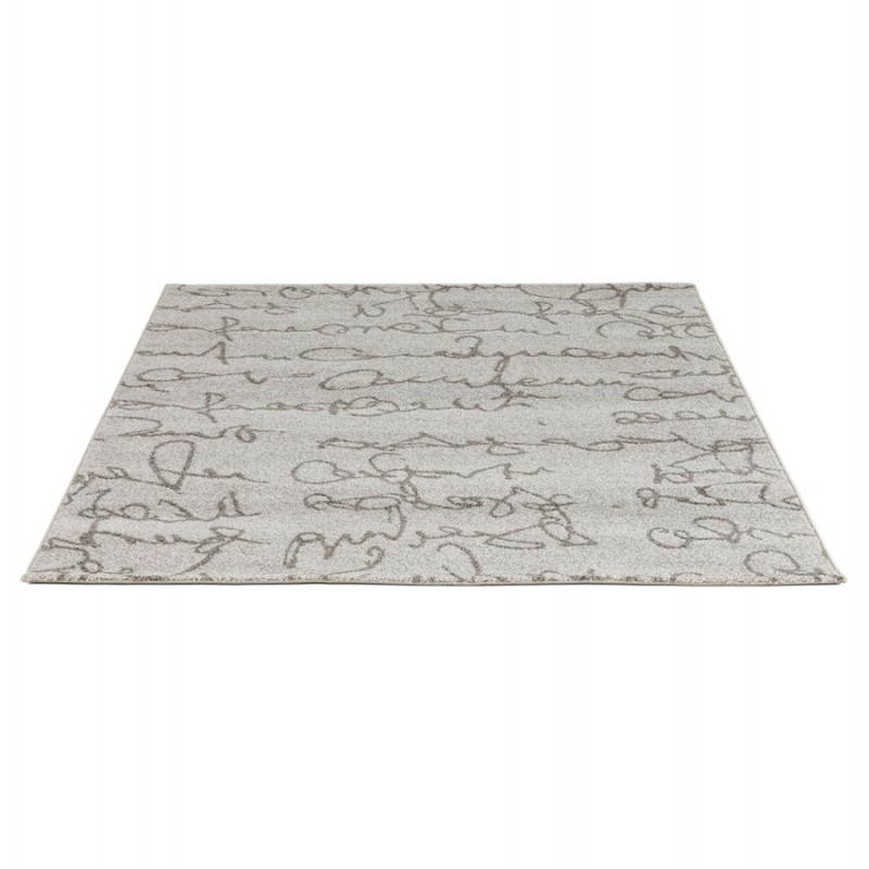 Contemporary rugs and rectangular FLORIEN design (160 X 230) (beige and black) - image 20444