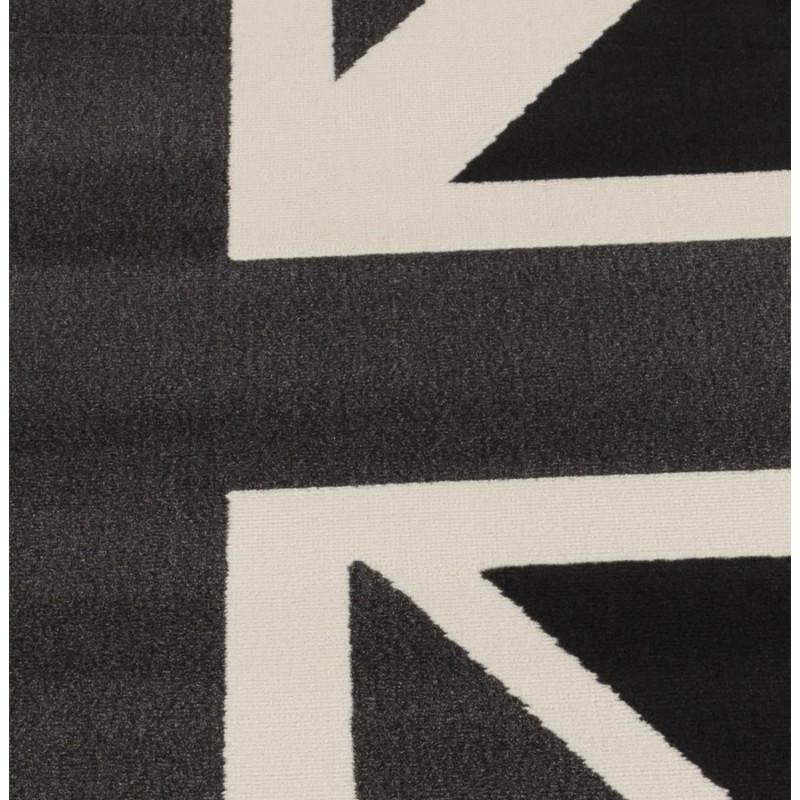 Tapis contemporain et design LARA rectangulaire drapeau UK (noir, blanc) - image 20468
