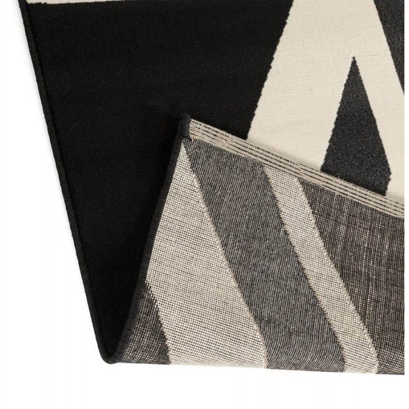 Tapis contemporain et design LARA rectangulaire drapeau UK (noir, blanc) - image 20471