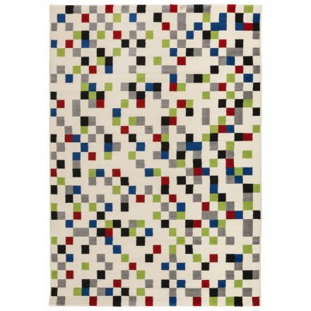 Tapis contemporain et design CARLA rectangulaire (multicolore)