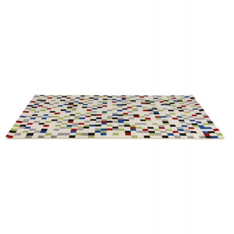 Tapis contemporain et design CARLA rectangulaire (multicolore) - image 20475
