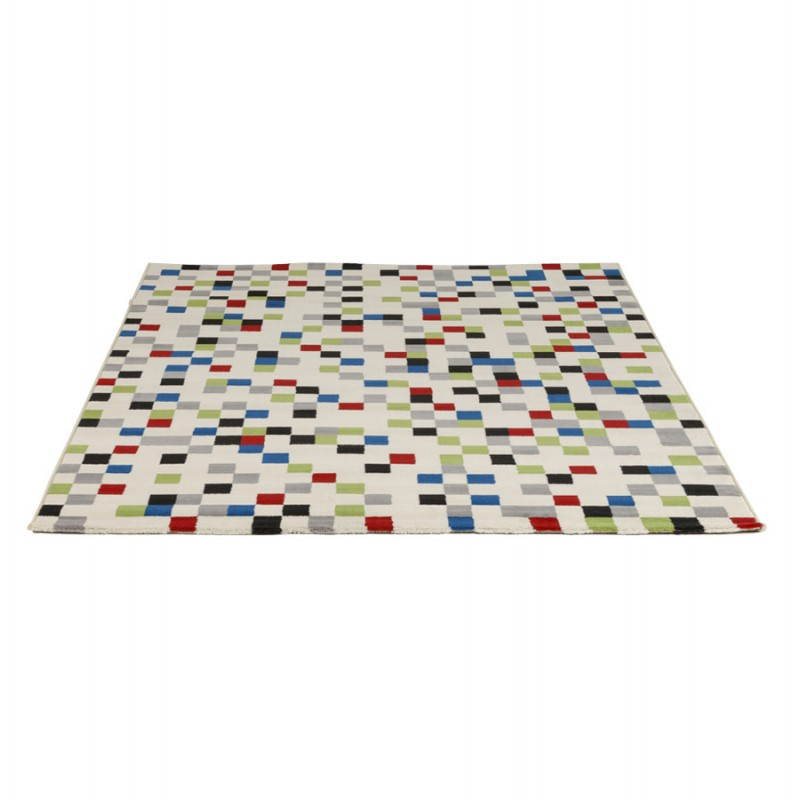 Tapis contemporain et design CARLA rectangulaire (multicolore) - image 20476