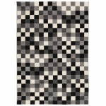Contemporary rugs and design RONY rectangular (black, grey, white)