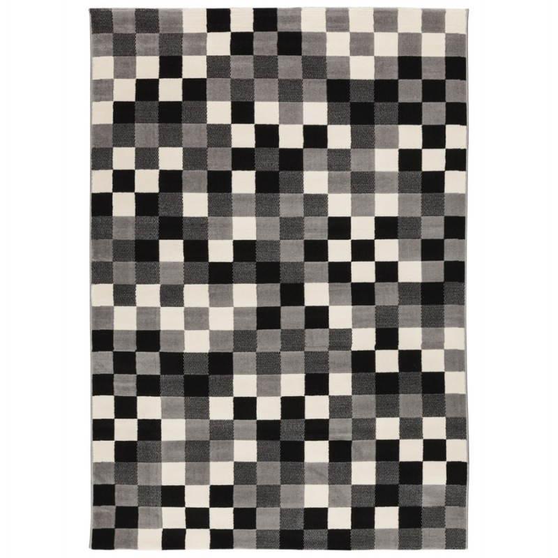 Contemporary rugs and design RONY rectangular (black, grey, white)