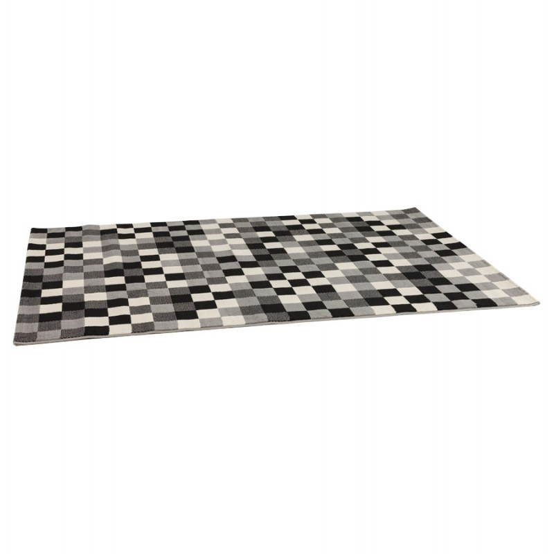 Contemporary rugs and design RONY rectangular (black, grey, white) - image 20481