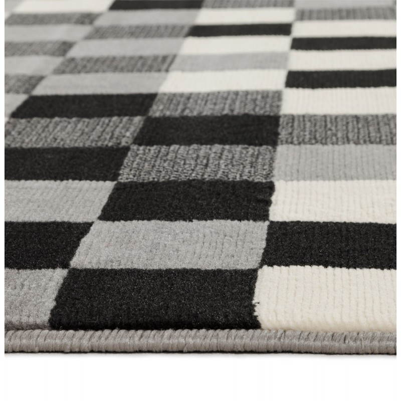 Contemporary rugs and design RONY rectangular (black, grey, white) - image 20486