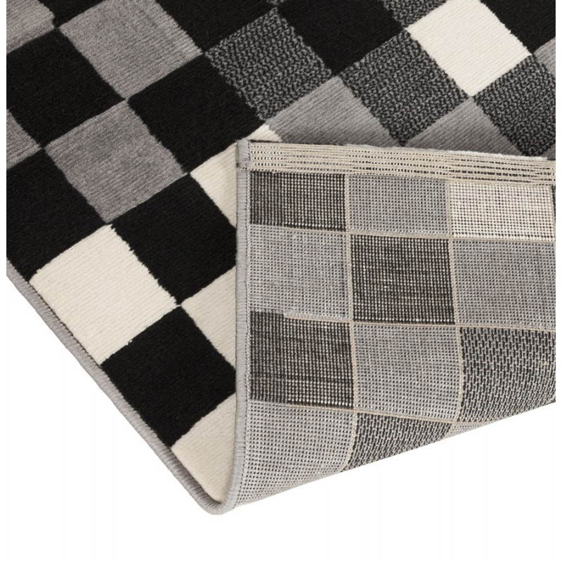 Contemporary rugs and design RONY rectangular (black, grey, white) - image 20487