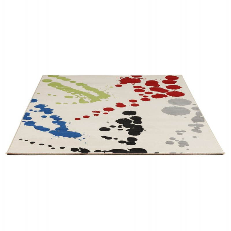 Tapis contemporain et design ROUBE rectangulaire (multicolore) - image 20492