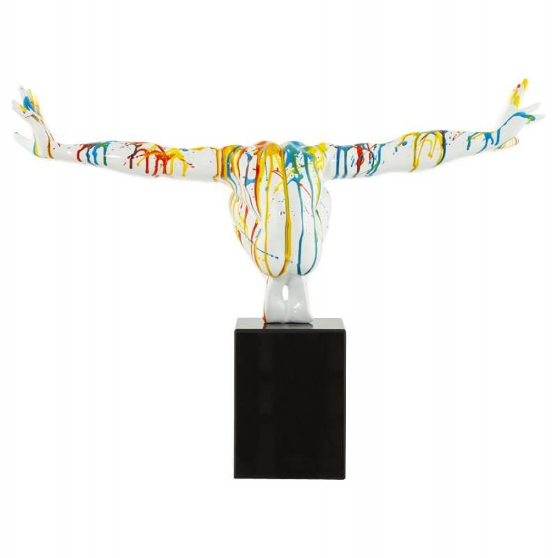 Statue forme nageur BANCO en fibre de verre (multicolore) - image 20525