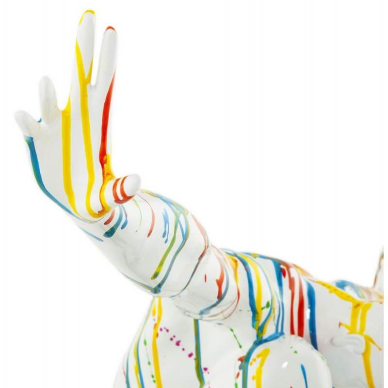 Statue forme nageur BANCO en fibre de verre (multicolore) - image 20528