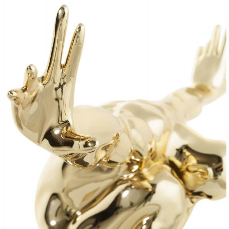 Statua forma nuotatore BANCO in fibra di vetro (oro) - image 20538