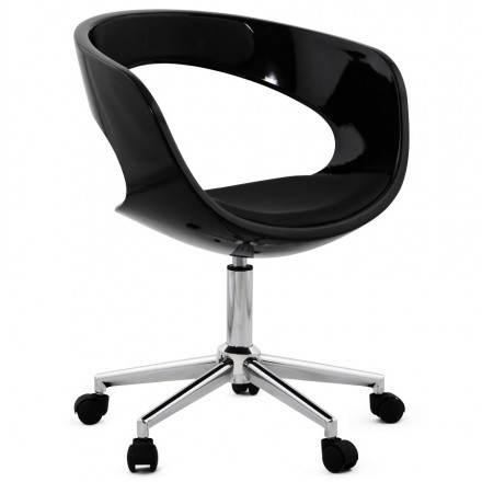 Chaise de bureau sphère rotative RAMOS (noir)