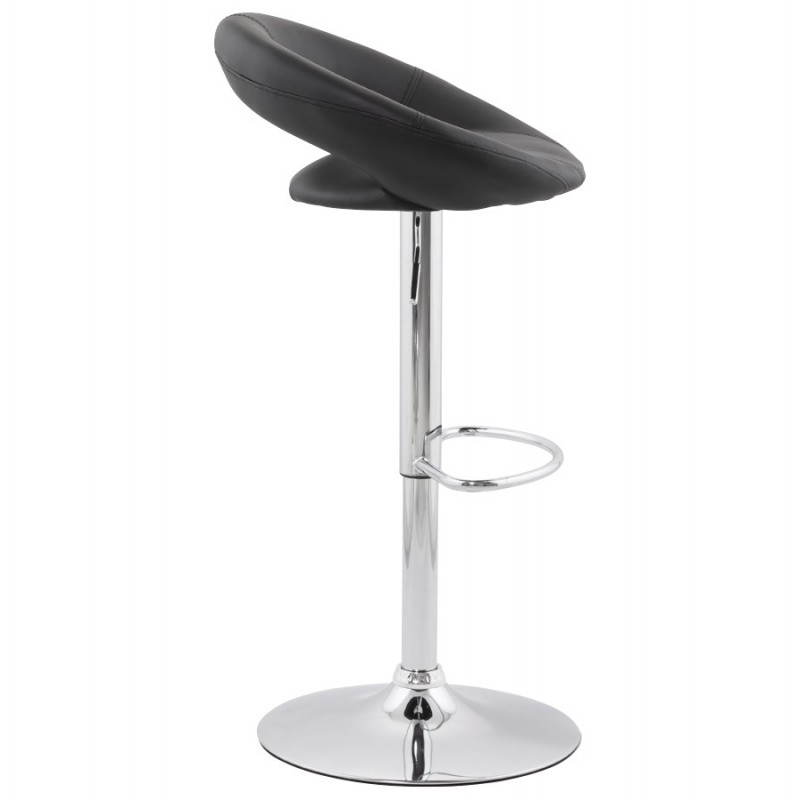Contemporary round and adjustable bar stool IRIS (black) - image 20610