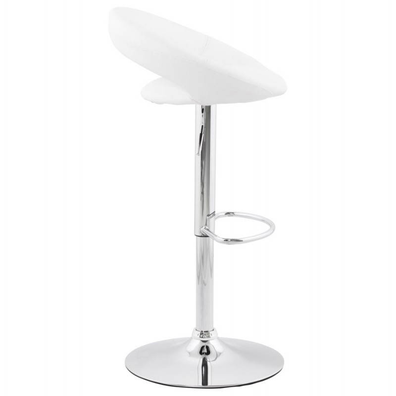 Contemporary round and adjustable bar stool IRIS (white) - image 20628