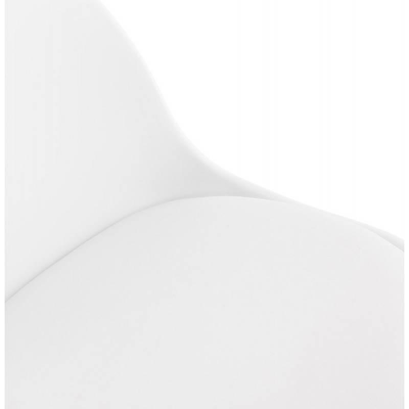 ROBIN Compact Rotary and Adjustable Bar Stool (White) - image 20686