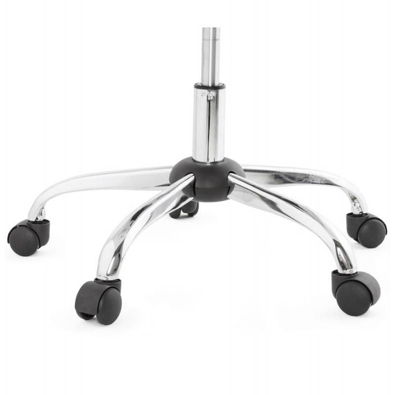 Chaise de bureau design PAUL en polyuréthane et métal chromé (blanc) - image 20720
