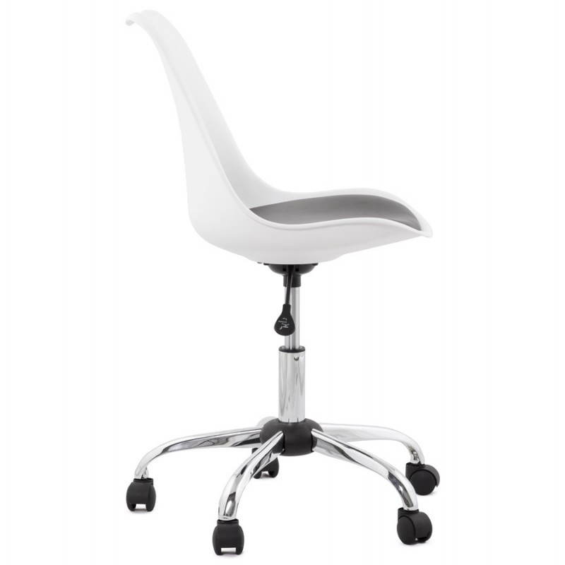 PAUL design office in polyurethane and chrome metal (white and black) Chair - image 20726