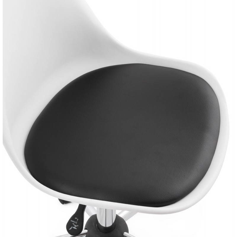 PAUL design office in polyurethane and chrome metal (white and black) Chair - image 20730