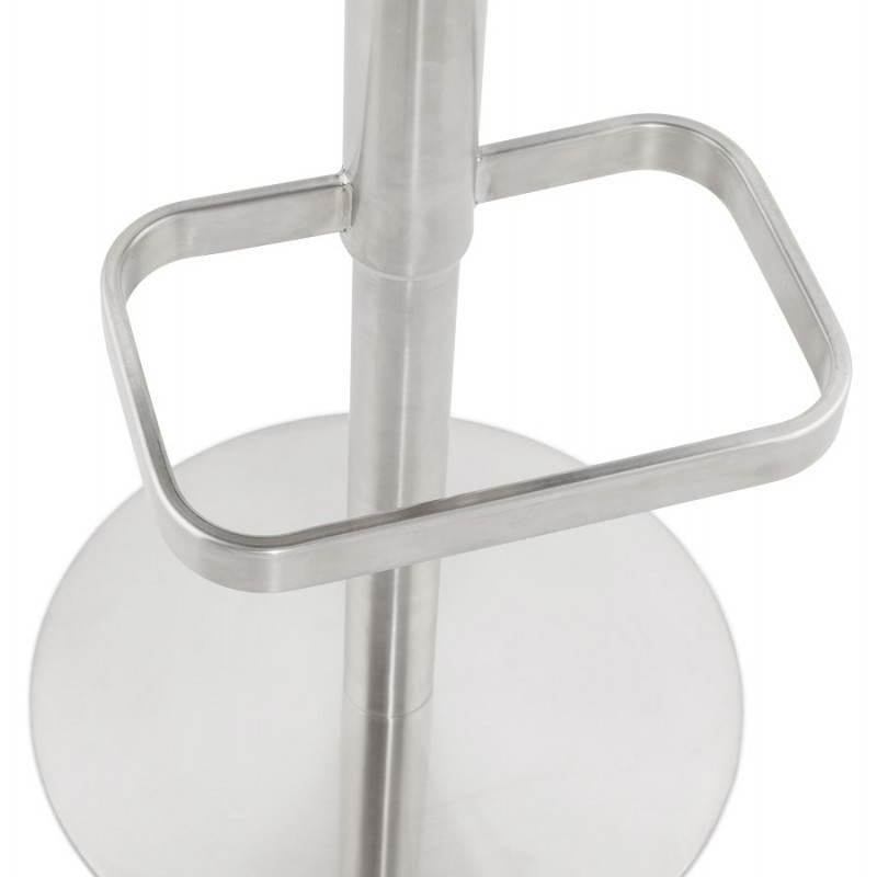 Tabouret de bar matelassé rotatif et réglable ANAIS (noir) - image 20752