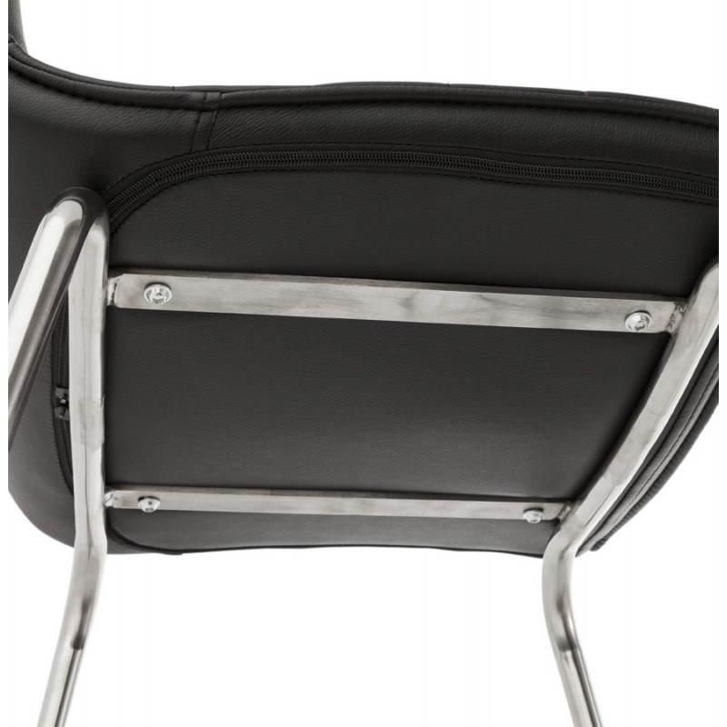 Tabouret de bar design matelassé MARGO (noir) - image 20948