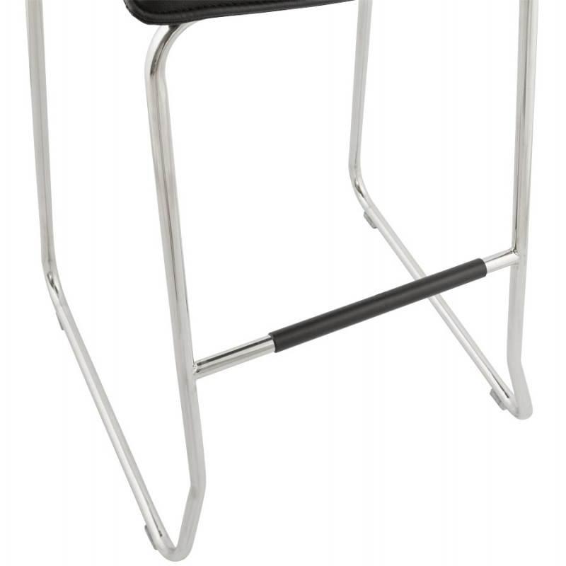 Tabouret de bar design matelassé MARGO (noir) - image 20949