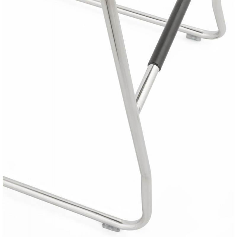 Tabouret de bar design matelassé MARGO (noir) - image 20950