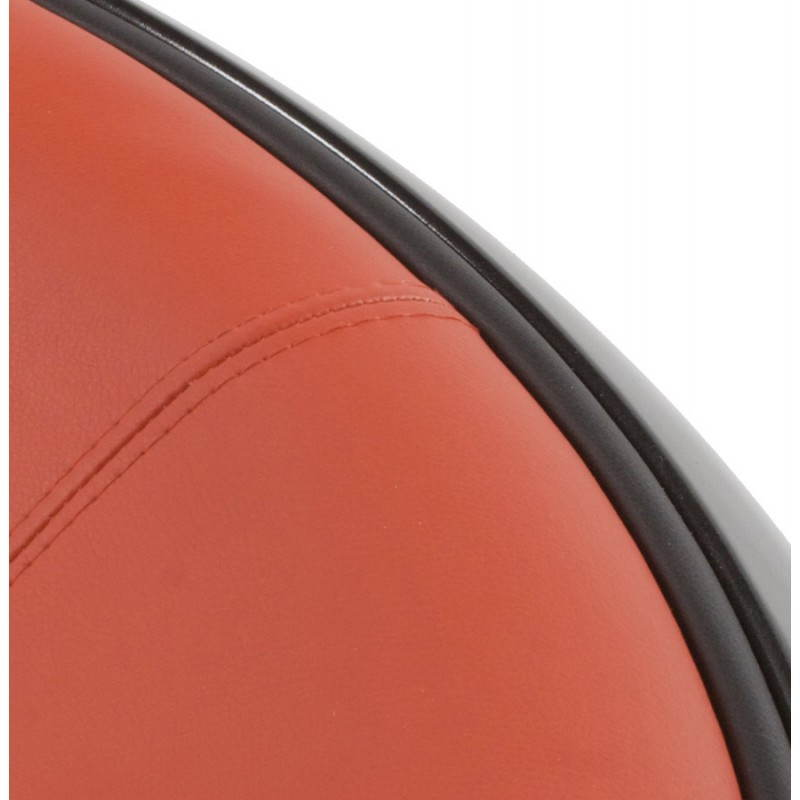 Fauteuil BOULE look trendy-chic pivotant à pieds ajustables (noir rouge) - image 20955