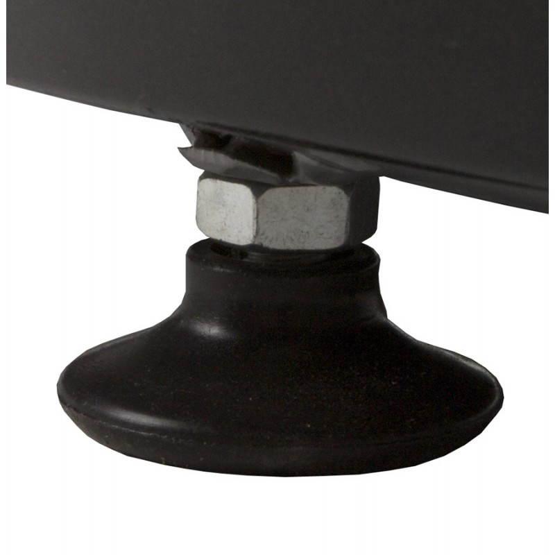 Fauteuil BOULE look trendy-chic pivotant à pieds ajustables (noir rouge) - image 20958