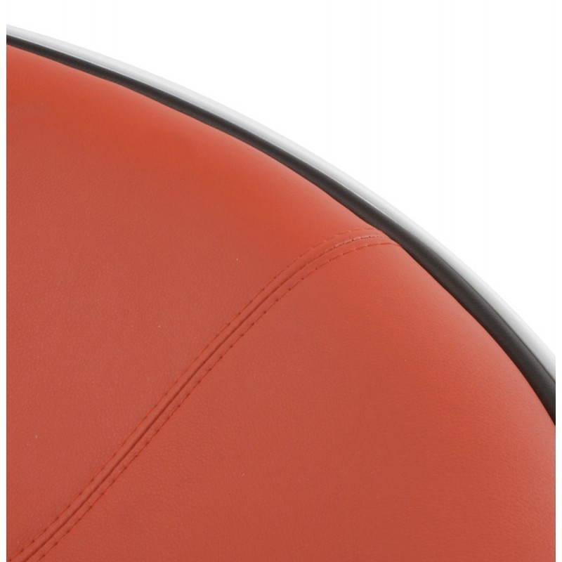 BOULE Sillón moderno de corte minimalista giratorias pies ajustables (rojo blanco) - image 20968