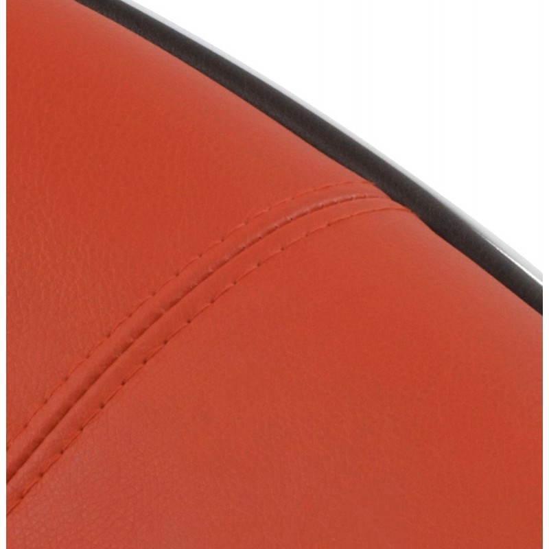 BOULE Sillón moderno de corte minimalista giratorias pies ajustables (rojo blanco) - image 20969
