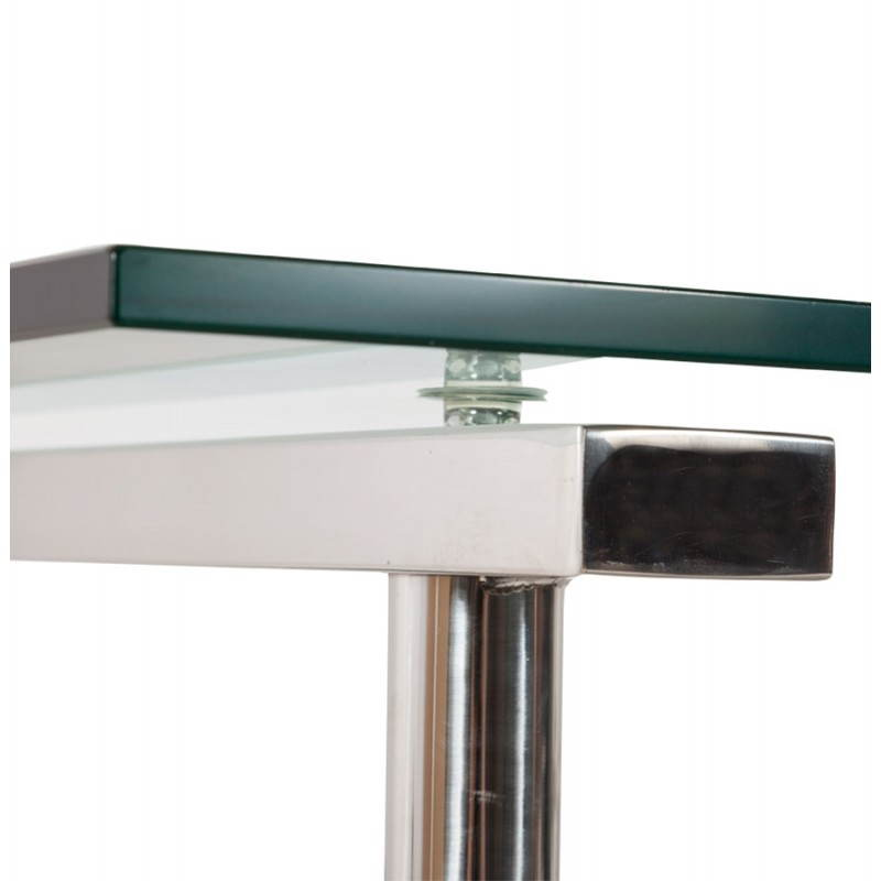 Office design on tempered glass and stainless steel adjustable feet MALDIVES (transparent) - image 20986