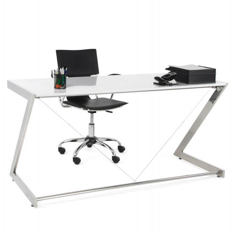 Office design Greece in lacquered wood and chrome metal (white) - image 20992