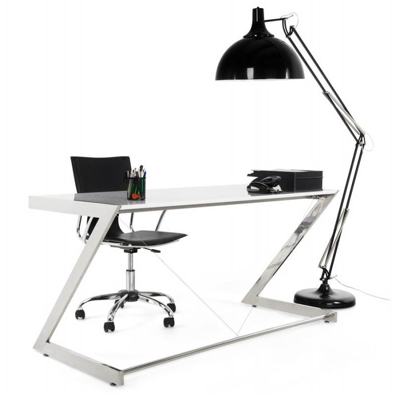 Office design Greece in lacquered wood and chrome metal (white) - image 20998