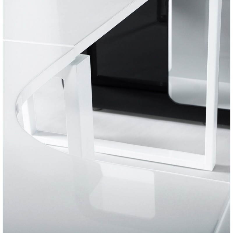 Bureau d'angle design FIDJI en bois laqué et métal peint (blanc) - image 21031