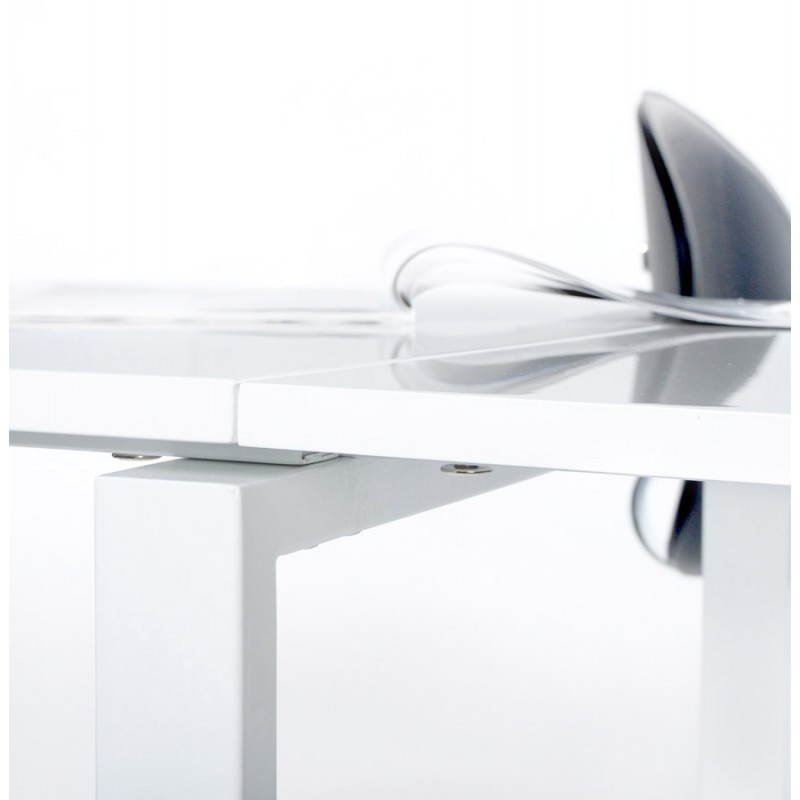 Bureau d'angle design FIDJI en bois laqué et métal peint (blanc) - image 21032
