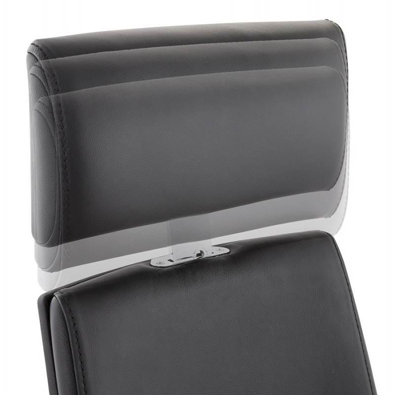 Fauteuil de bureau design ergonomique CUBA en cuir (noir) - image 21088