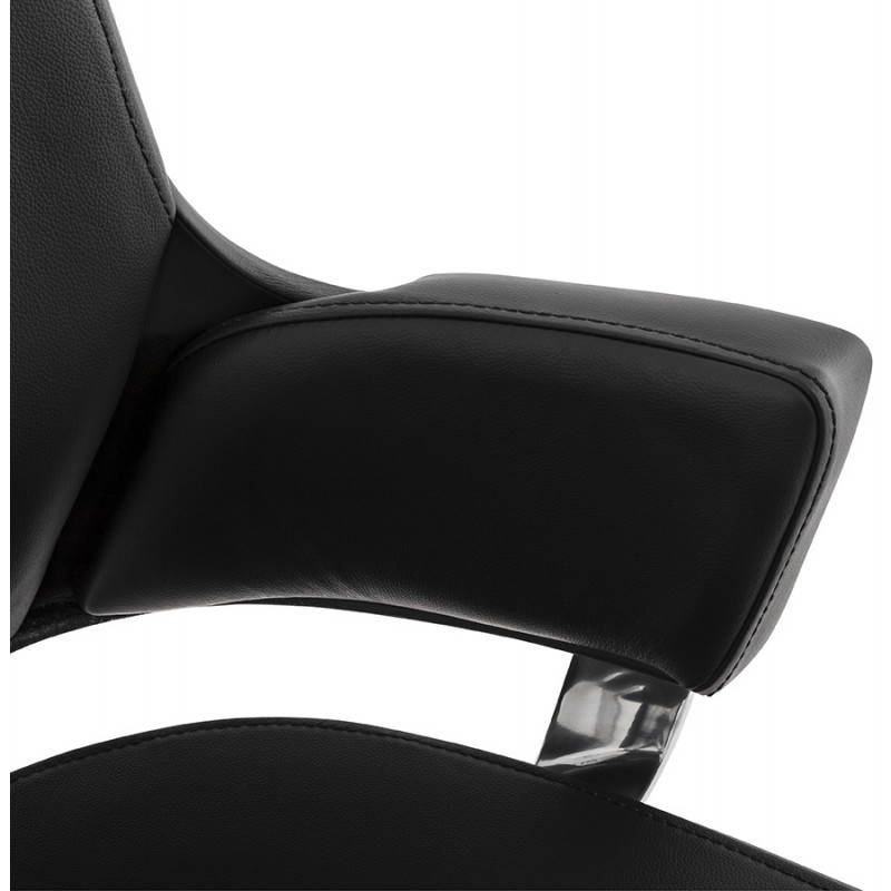 Fauteuil de bureau design ergonomique CUBA en cuir (noir) - image 21090