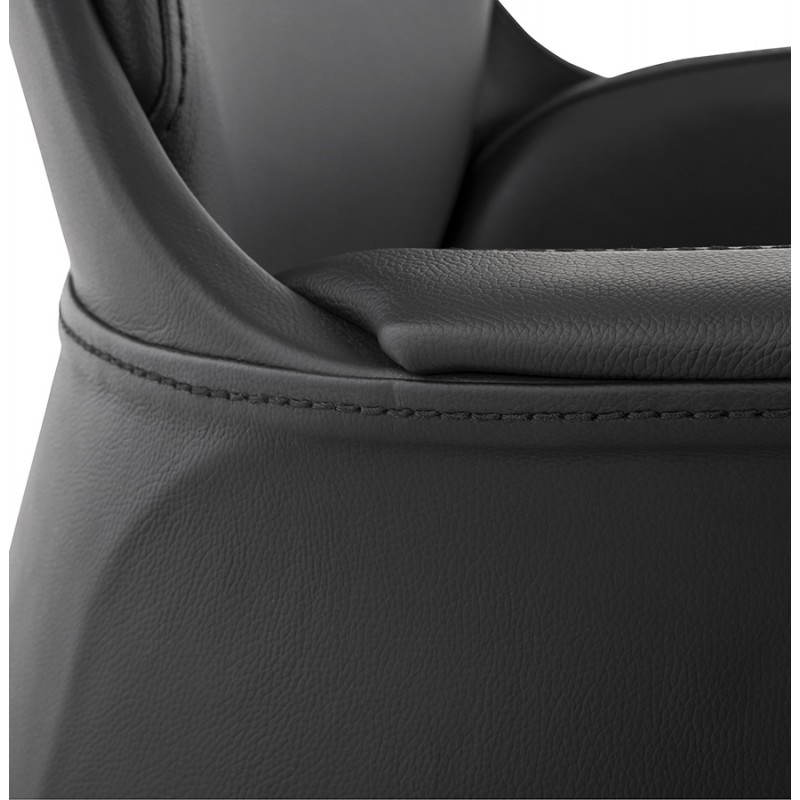 Fauteuil de bureau design ergonomique CUBA en cuir (noir) - image 21091