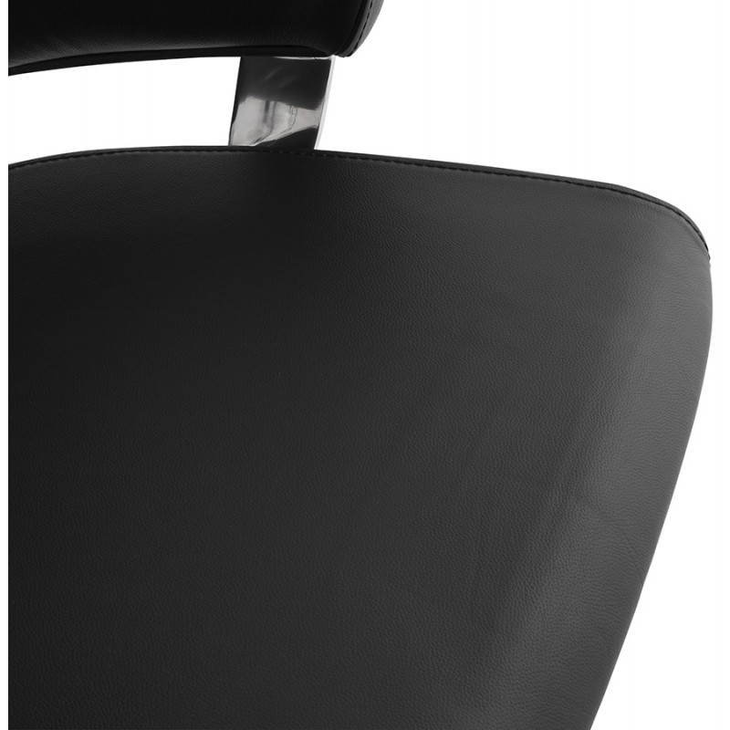 Ergonomic design office CUBA (black) leather armchair - image 21092