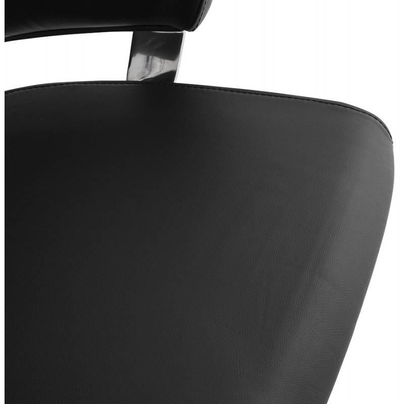 Fauteuil de bureau design ergonomique CUBA en cuir (noir) - image 21092
