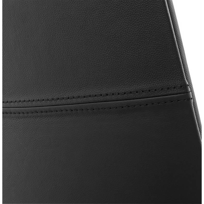 Fauteuil de bureau design ergonomique CUBA en cuir (noir) - image 21094